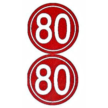 PLAQUE AUTOCOLLANT 80  ....PAQ(25)=