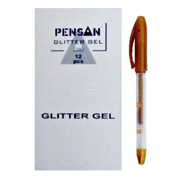 STYLO GEL GLITTER 1.0 DORE PENSA ....PAQ(12)=