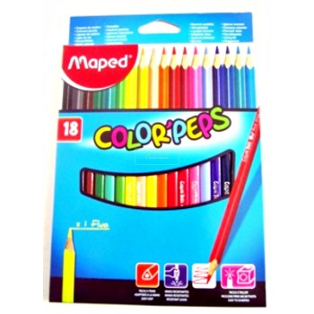 CRAYON COUL 18/18   R-218 MAPED
