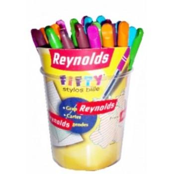 STYLO BILLE  FIFTY  ASS MINI REYNOLDS ....PAQ(50)=