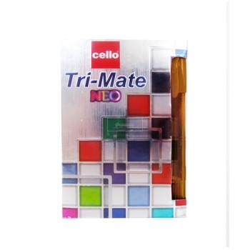 STYLO BILLE MARRON CELLO TRI MAT NEO ....PAQ(50)=