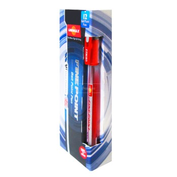 STYLO GEL ROUGE FINE POINT ....PAQ(12)=