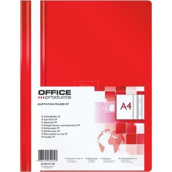 CHEMISE A LAMELLES R-11-04 ROUGE OFFICE  ....PAQ(25)=